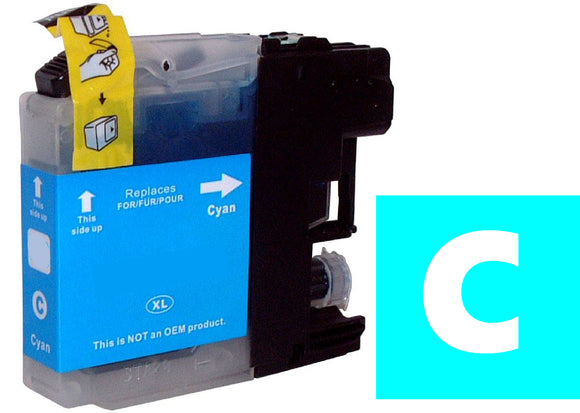 Brother LC123c compatible cyan inkjet cartridge