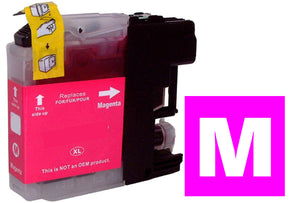 Brother LC123m compatible magenta inkjet cartridge
