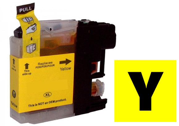 Brother LC123y compatible yellow inkjet cartridge