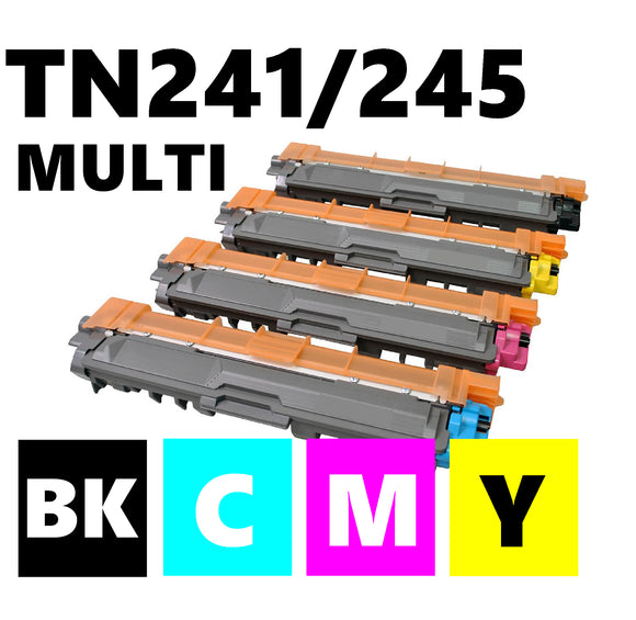 Brother TN241 TN245 compatible multipack toner cartridges