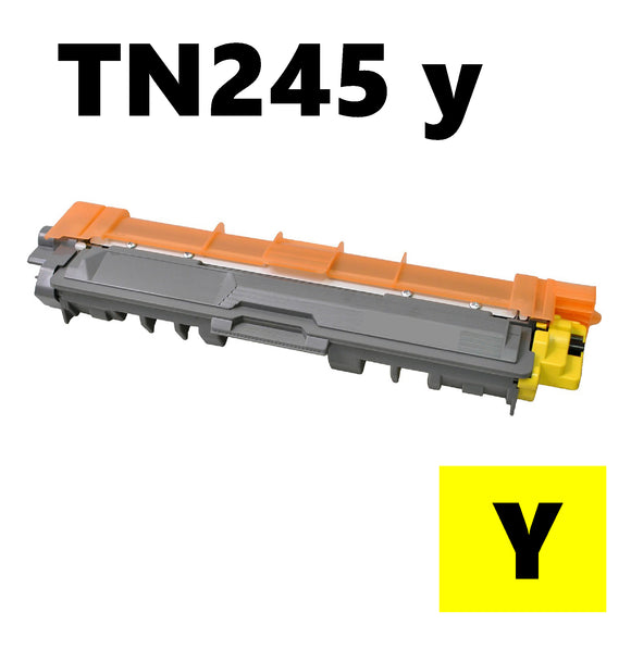 Brother TN245y compatible yellow toner cartridge