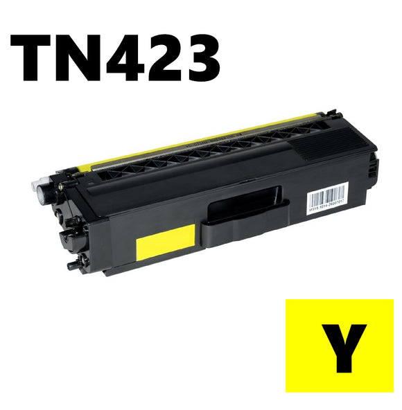 Brother TN423 compatible yellow toner cartridge TN423y