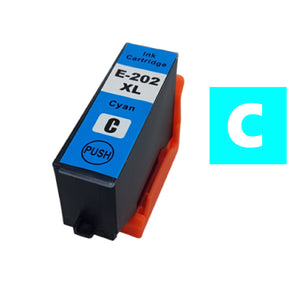 Epson 202XL cyan compatible inkjet cartridge T02H240