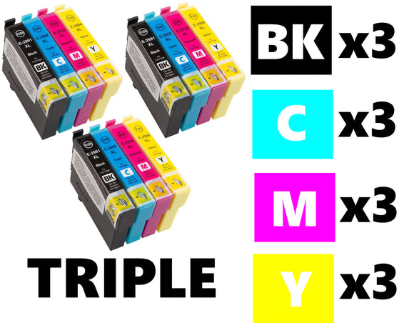 Epson T0715 triple multipack compatible inkjet cartridges cheetah ink