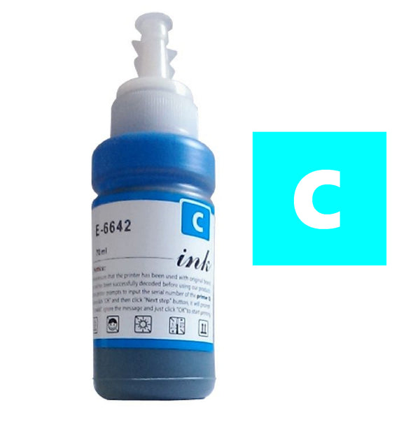 Epson T6642 cyan compatible ink bottle E6642