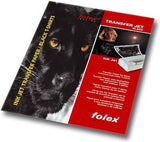 Folex T-Shirt Black iron on transfer paper for dark coloured fabric
