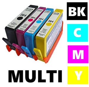 HP 364XL compatible multipack inkjet cartridges equivalent to N9J74A