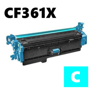 HP CF361X high capacity cyan compatible toner cartridge 508X