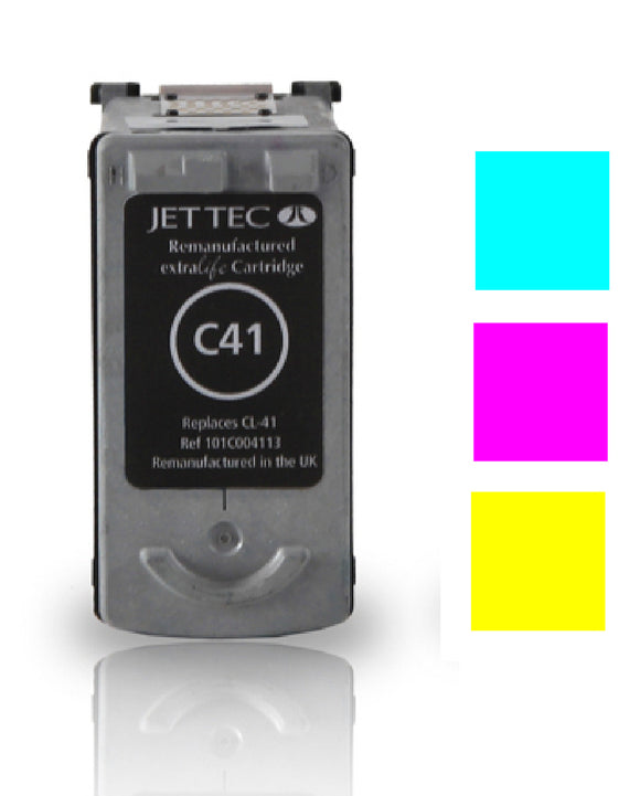 Canon CL41 recycled compatible compatible inkjet cartridge Jet Tec CL-41