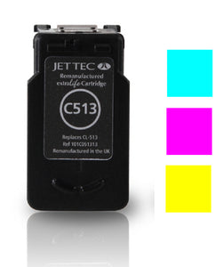 Canon CL513 recycled colour inkjet cartridge Jet Tec compatible