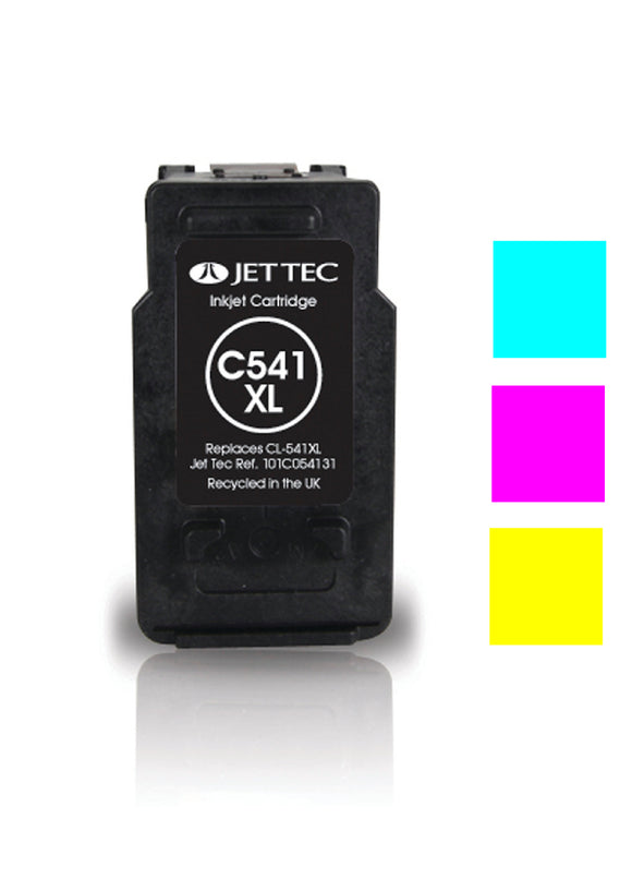 Jet Tec Canon CL541XL compatible recycled colour inkjet cartridge CL541