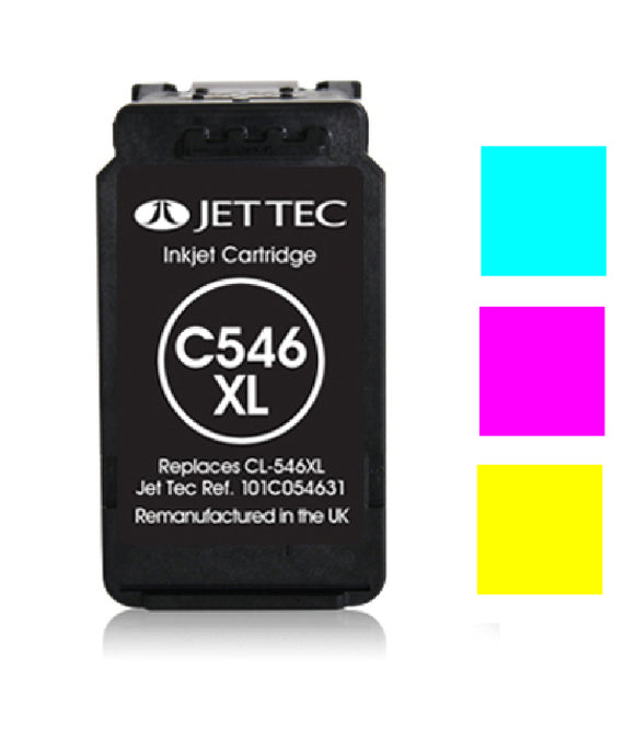 Canon CL546XL recycled colour inkjet cartridge Jet Tec compatible CL546