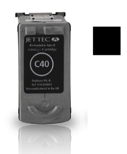 Canon PG40 recycled compatible black inkjet cartridge PG-40bk