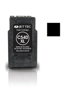 Jet Tec Canon PG540XL compatible recycled black inkjet cartridge PG540