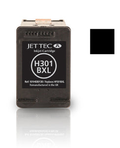 Jet Tec HP 301XL compatible recycled black inkjet cartridge CH563 301