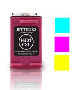 Jet Tec HP 301XL compatible recycled colour inkjet cartridge CH564 301