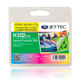 Jet Tec HP 302XL compatible recycled colour inkjet cartridge F6U67A 302 box