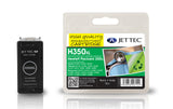 HP 350XL compatible recycled black inkjet cartridge Jet Tec CB336 with box