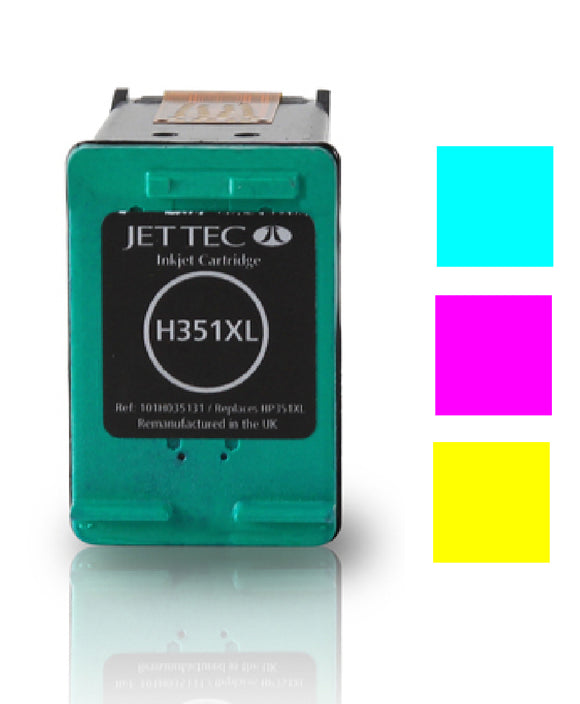HP 351XL compatible recycled colour inkjet cartridge Jet Tec CB338