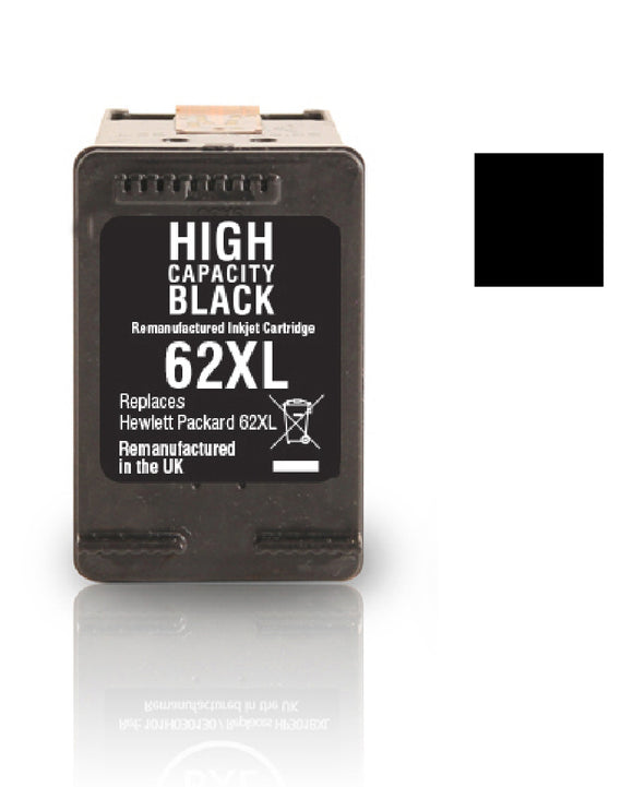 HP 62XL black recycled inkjet cartridge Jet Tec C2P05A
