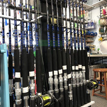 "Load image into Gallery viewer, 4 Rod 6'0"" MH Bay Trolling Combo Package w/Okuma Solterra Reels"