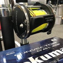 "Load image into Gallery viewer, 8 Rod 5'6"" MH Bay Trolling Combo Package W/Okuma Convector Reels"