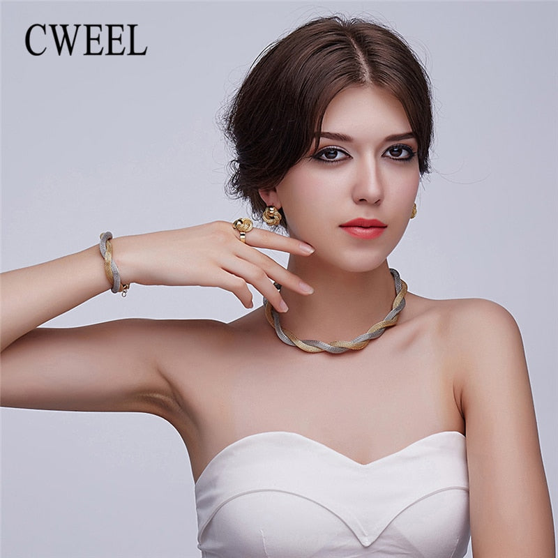 Twist Weave Jewellery Set