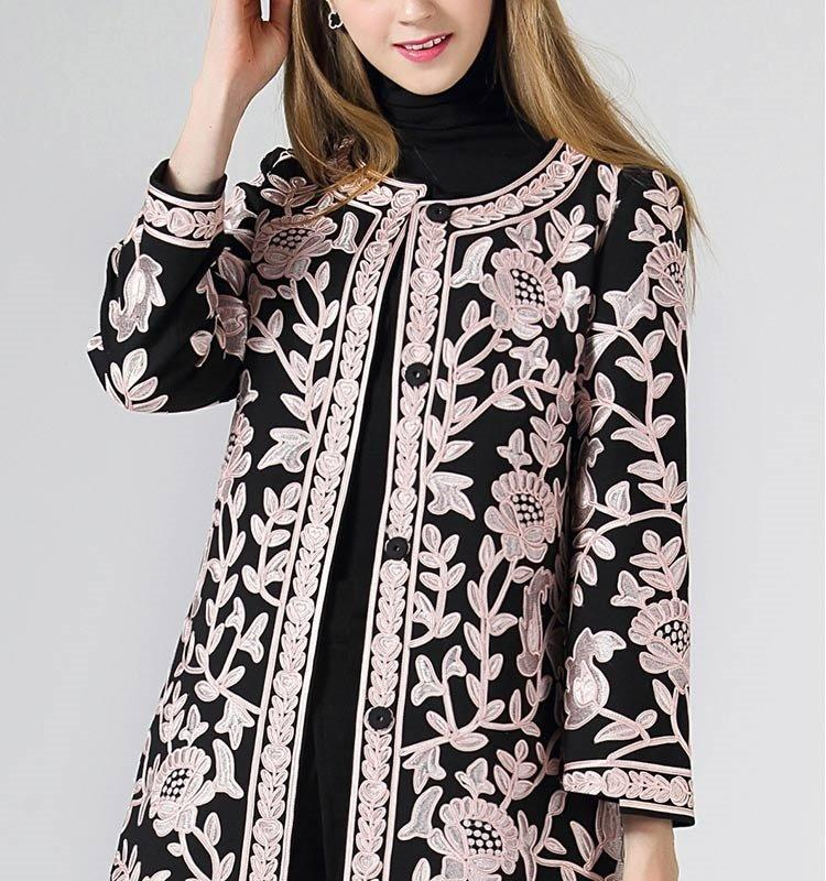 'Amelia'  Embroidered Coat