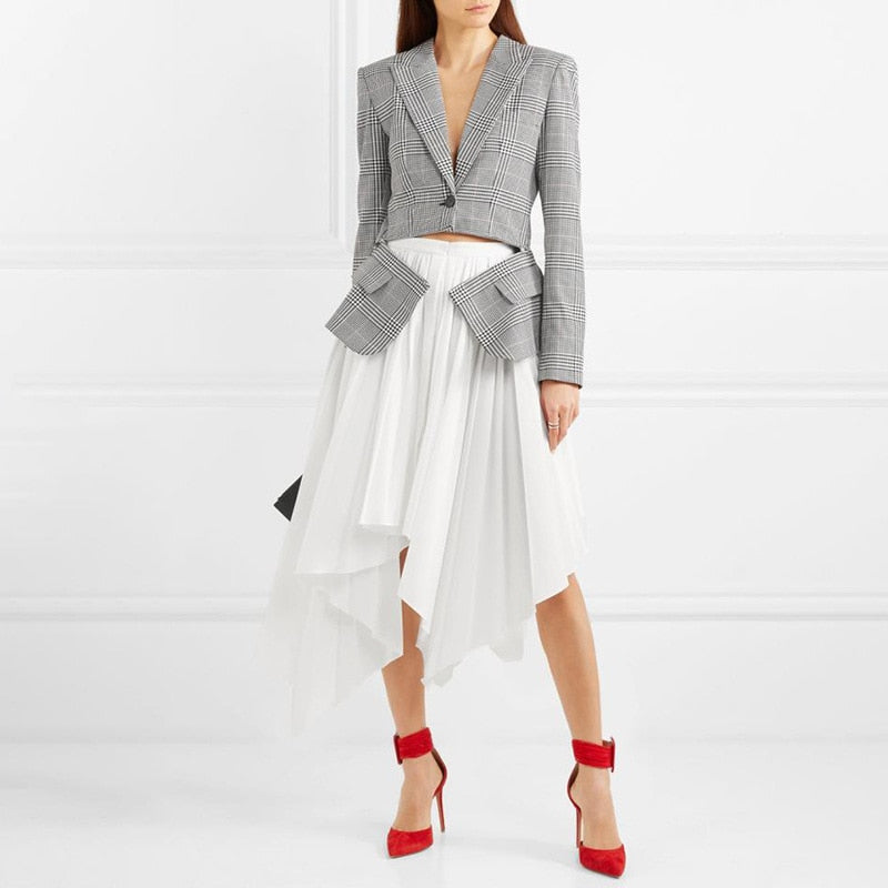 'Vivian'  Combo Formal Jacke and Asymmetric  Skirt