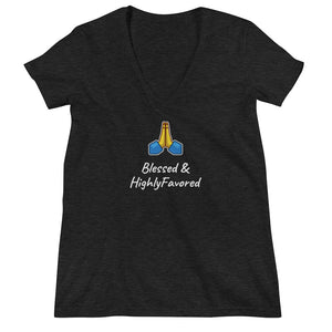 Blessed Deep V-neck Tee