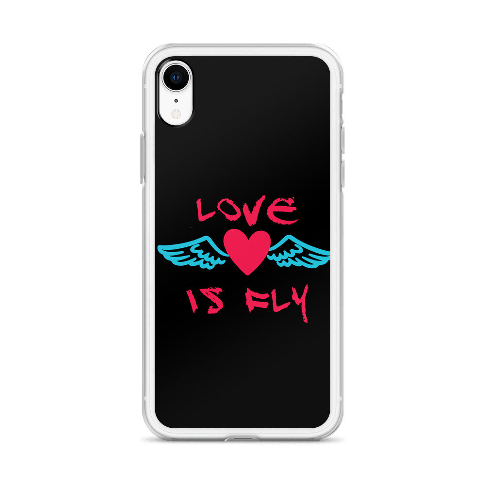 Love is Fly Liquid Glitter Phone Case
