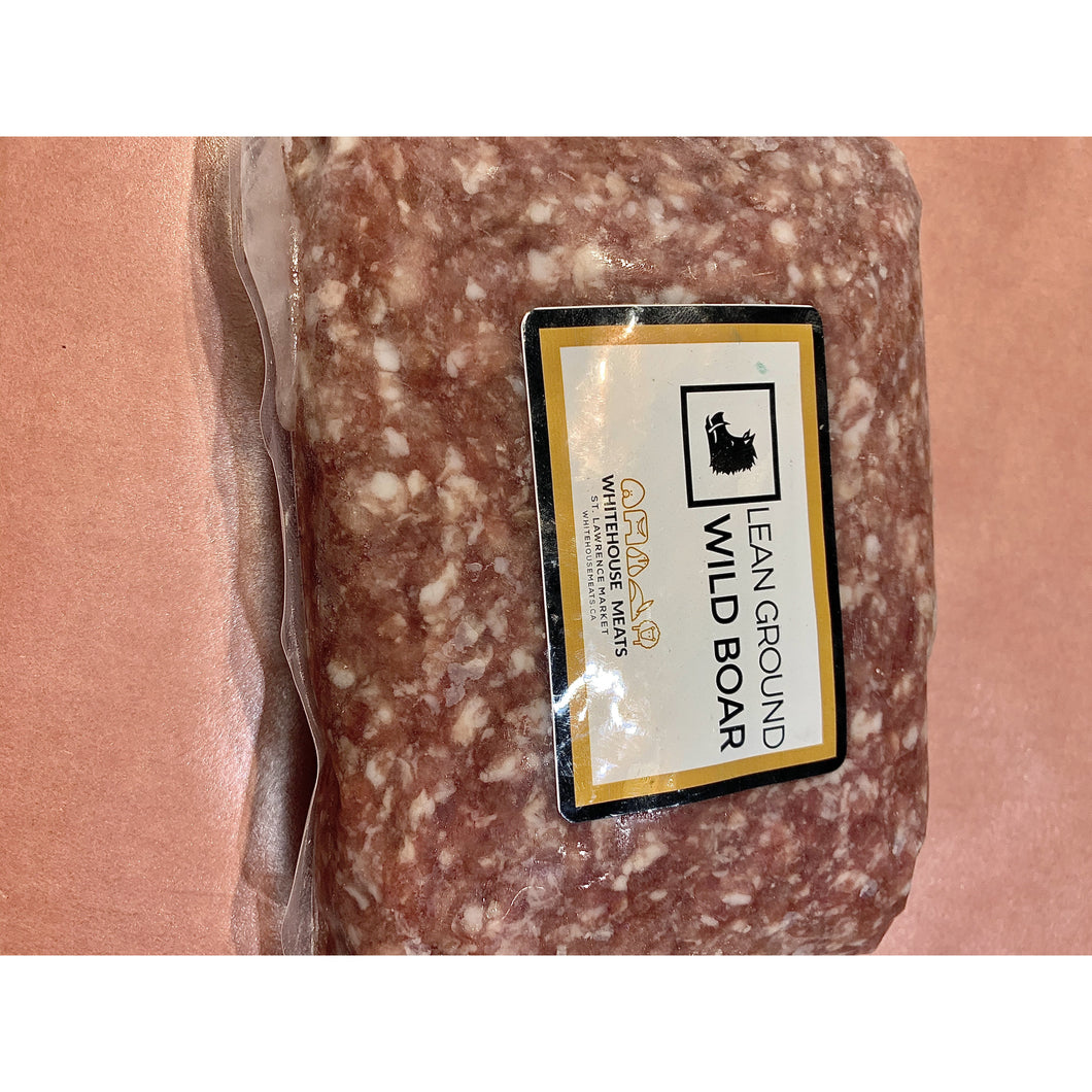 Whitehouse Meats Lean Ground Wild Boar - 1-1.25 Lb Pkg - Frozen - The Chef Scott Shop