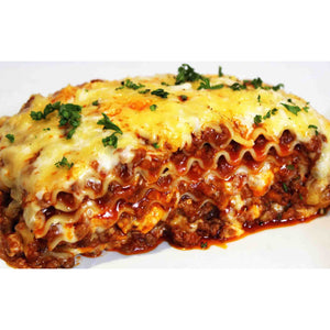Homemade Meat Lasagna (1 1/2 - 2 Lb Avg..) - Feeds 2 People - The Chef Scott Shop