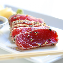 Load image into Gallery viewer, Fresh Sushi Grade Yellow Fin Tuna - Wild Caught = Sustainable -1/2 Lb. - The Chef Scott Shop