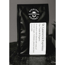 Load image into Gallery viewer, Everyday Gourmet Coffee - St. Lawrence Espresso Blend Coffee Beans - Fair Trade & Organic - 1 Lb. - The Chef Scott Shop