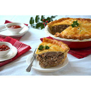 Carnicero's Traditional Quebec Tourtiere Meat Pie - Large 10 Inch - The Chef Scott Shop