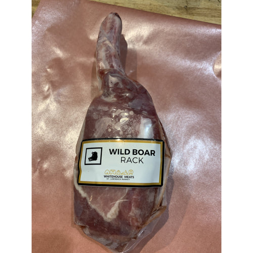 Whitehouse Meats Wild Boar Rack - 1 Lb - 2 Bones Per - Frozen - The Chef Scott Shop