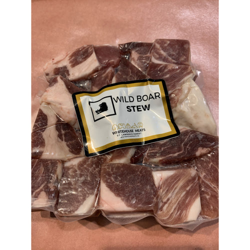 Whitehouse Meats Wild Boar Stew Meat - 1 - 1.25 Lbs - Boneless - Frozen - The Chef Scott Shop