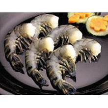 Load image into Gallery viewer, Raw Black Tiger Shrimp - (16/20 per pound) - Raw- Easy Peel- Headless- Shell On 1 Lb. - The Chef Scott Shop