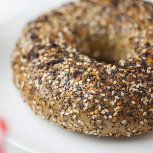 St. Urbain Stone Baked Jewish Montreal Style Whole Wheat Everything Bagels - 1/2 Dz - The Chef Scott Shop