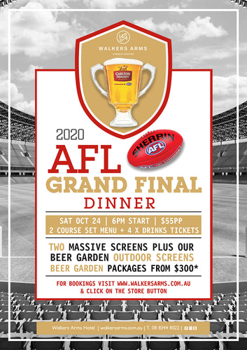 AFL Grand Final Day Dinner - Saturday October 24