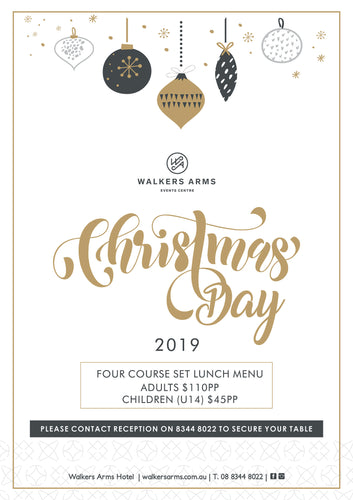 Walkers Arms - Christmas Day Lunch December 25
