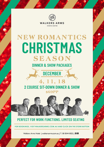 New Romantics Christmas Season Dinner & Shows - Friday December 4, 11 & 18