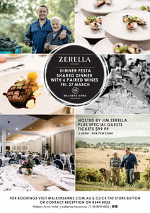 Walkers Arms - Zerella Wines Dinner Festa March 27