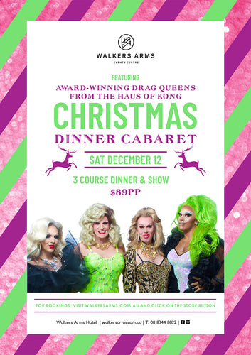 Christmas Dinner Cabaret with the Drag Queens of Haus of Kong December 12