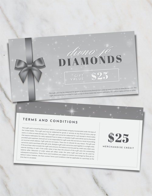 divno jé Diamonds Gift Card