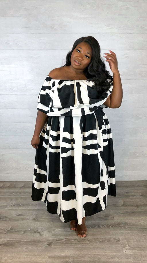 All the Audacity Skirt Set | Black & White