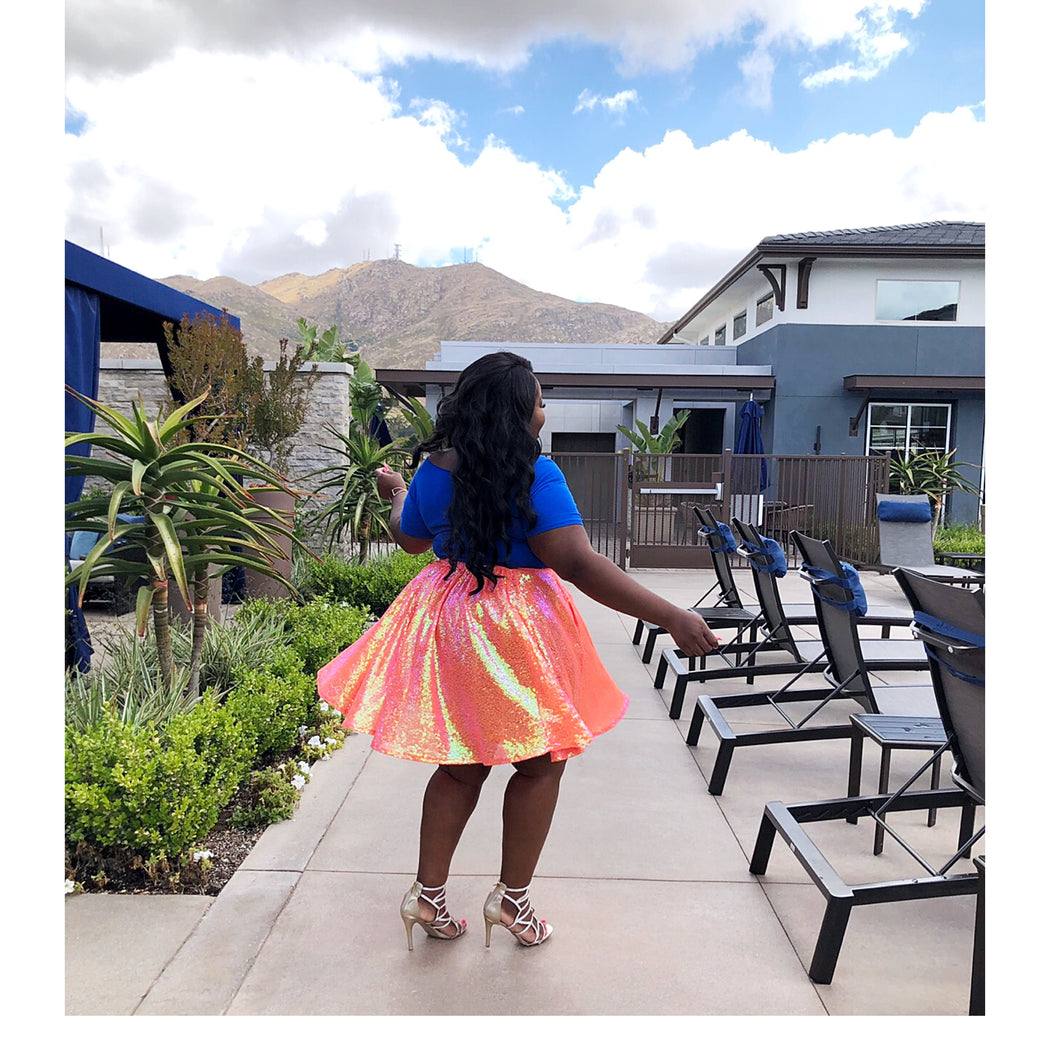 That Little Skirt | Tangerine Sparkle
