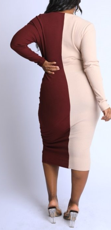 Split Decision Bodycon Dress