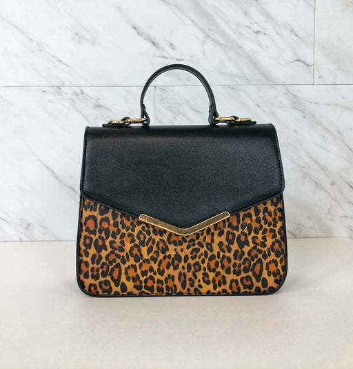 So Chic Envelope Top Handle Bag | Leopard